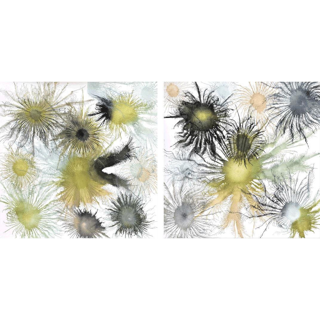 Diptych Exploflora Series No. 63 by Sumit Mehndiratta