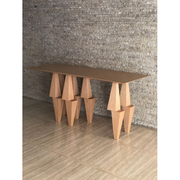BOLD  PYRAMID CONSOLE TABLE by Ana Volante