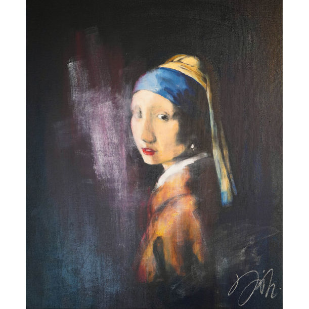 Girl with a pearl earring contemporary by Tomoya