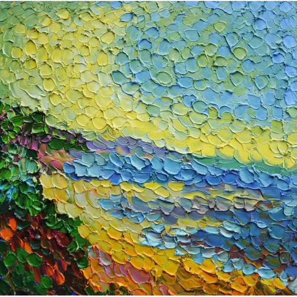 Yellow and blue by Olga Bezhina