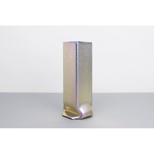 Pressure Vase Square Zinc-Plated, Tall by Tim Teven