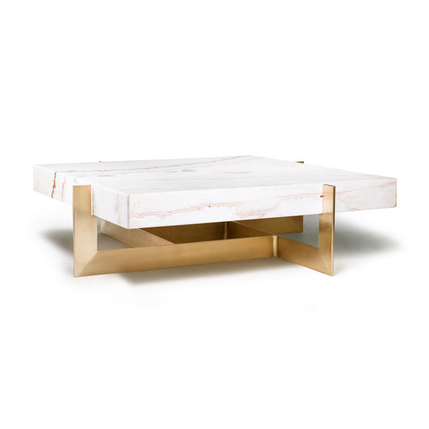 """""""The Golden Rock"""" Marble Coffee Table by Grzegorz Majka"""