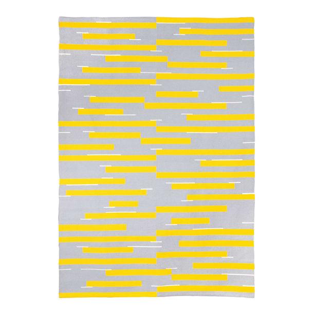Jamakhan Stripe Rug - Grey by Tiipoi