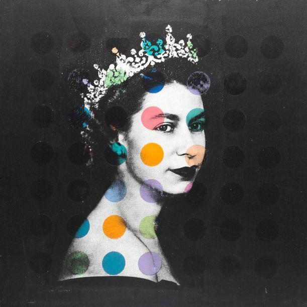 Queen Elizabeth II X Dots II by Dane Shue