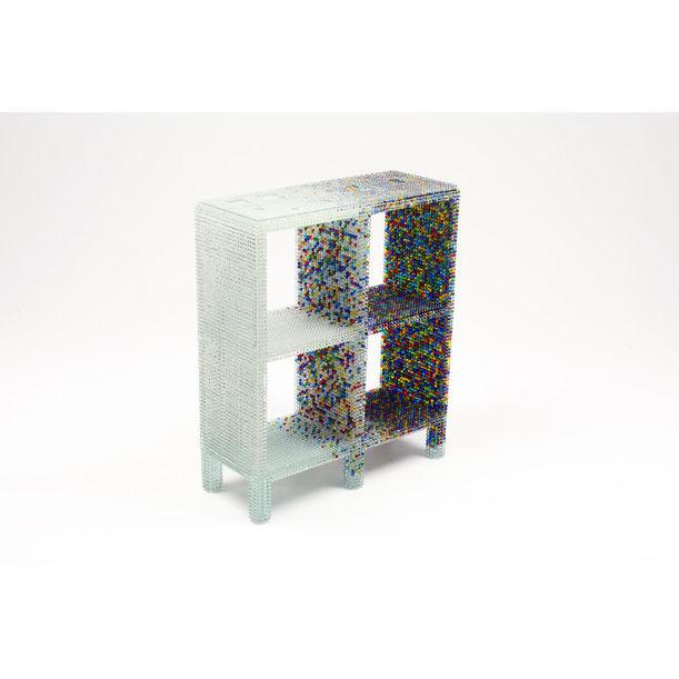 grade-B shelf (glass marble structure) by Kairo Kusamoto