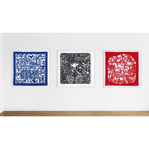 The Silk Scarves (Set of 3) by Ai WeiWei (艾未未)