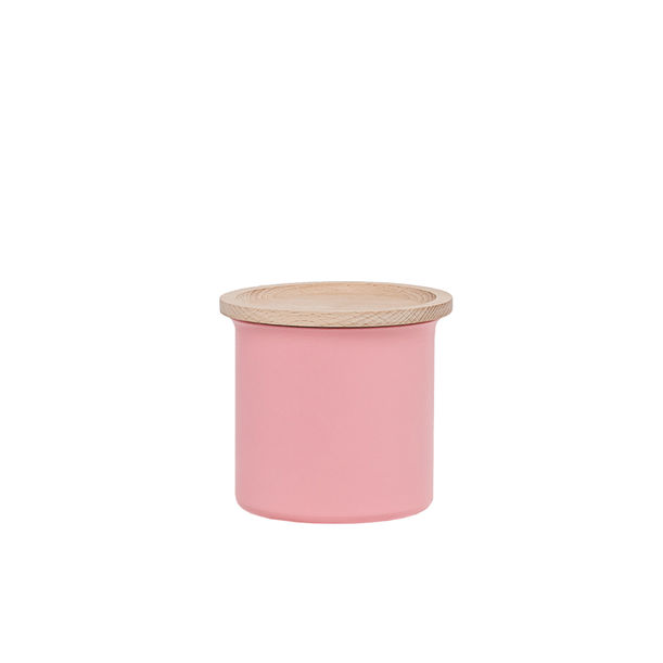 Ayasa Pink Storage Jar, with wooden lid - 0.5L by Tiipoi