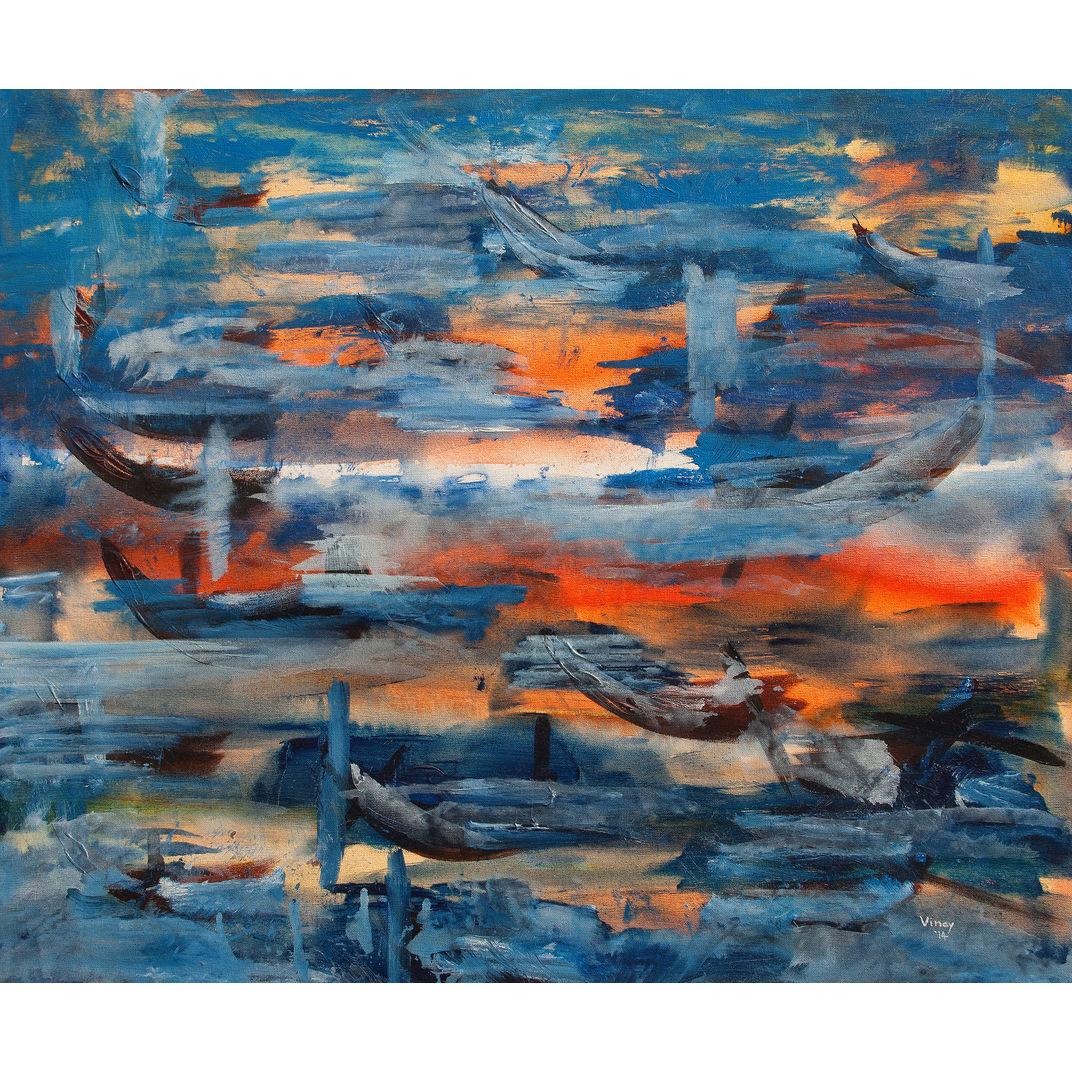 Swimming towards light by VINAY SANE