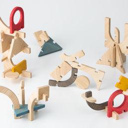 Slot Construction Toy by Takenouchi Webb