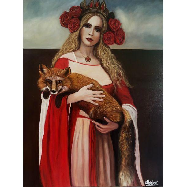 Lady and a fox by Kinga Sokol