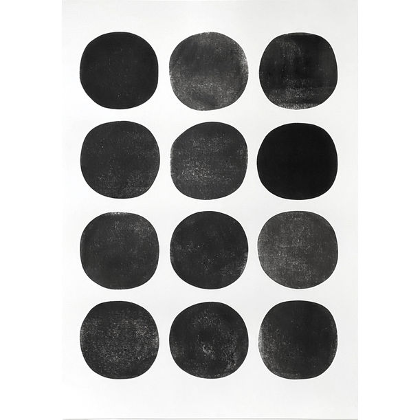 Irregular Circles / Black by Lian Ng