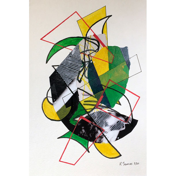 Collage Tangle # 18 by Randall James