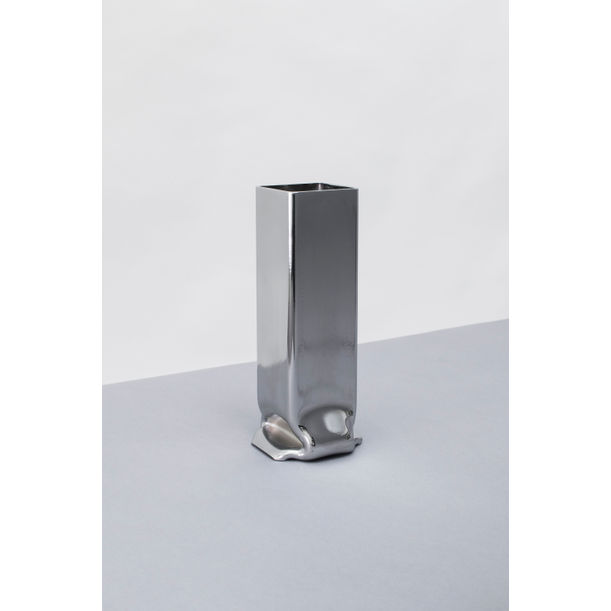 Pressure Vase Square Chrome, Tall by Tim Teven