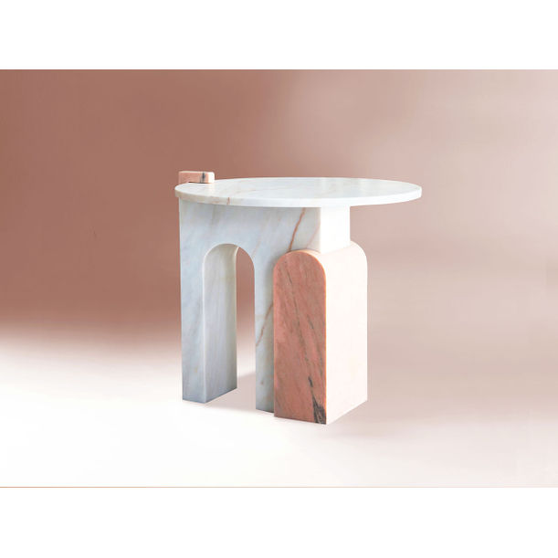 Stone - Marble side table by Dovain Studio