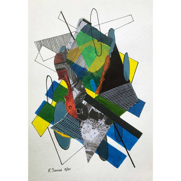 Collage Tangle # 20 by Randall James