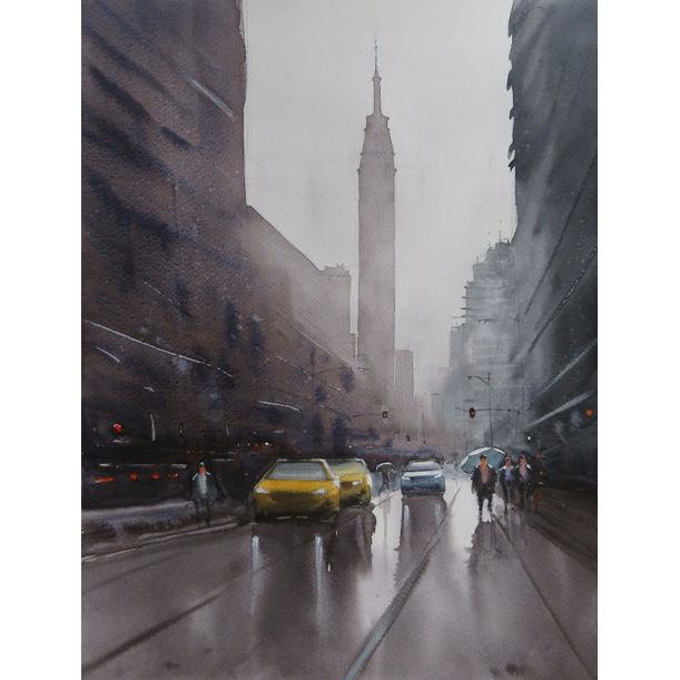 Rain and the city by Swarup Dandapat