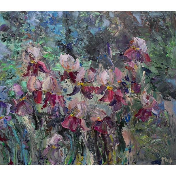 Blooming Irises by Marina Urchukina