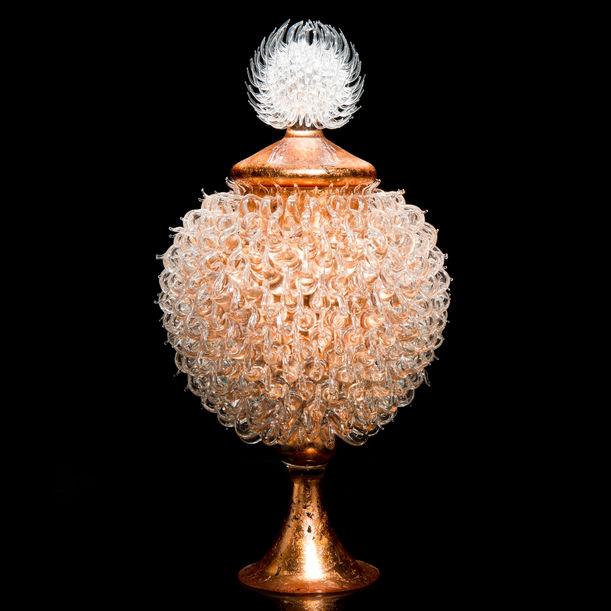 Round Venus Jar with Thistle Top by James Lethbridge