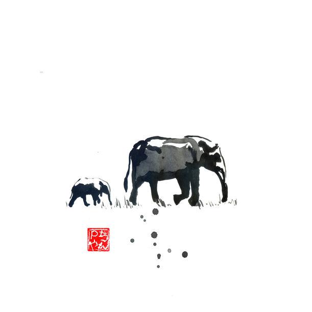 elephant family by péchane