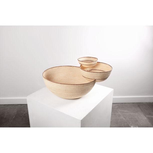 Intersección: Balancing Woven Sculptural Piece by Joel Escalona