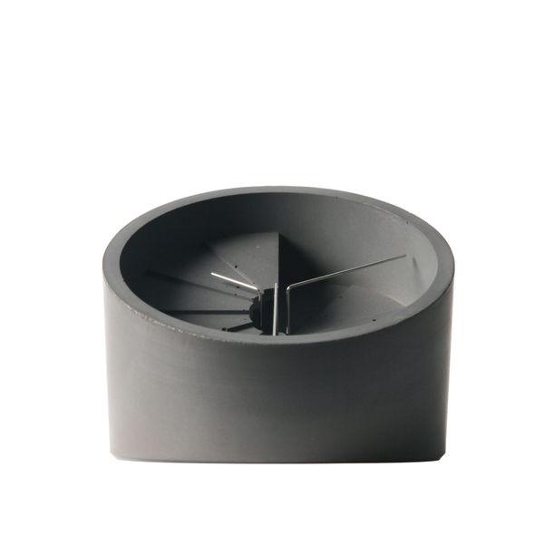 4th Dimension Table Clock (Silver/ Dark Grey) by 22 Design Studio