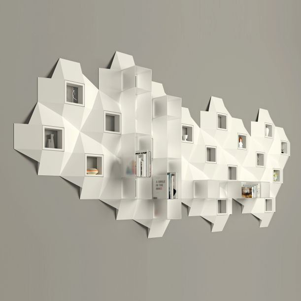 Cross bookcase - white collection by decoaid