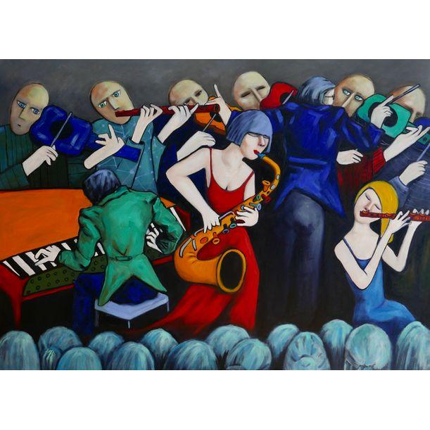 Sax & Flute players by Ta Thimkaeo