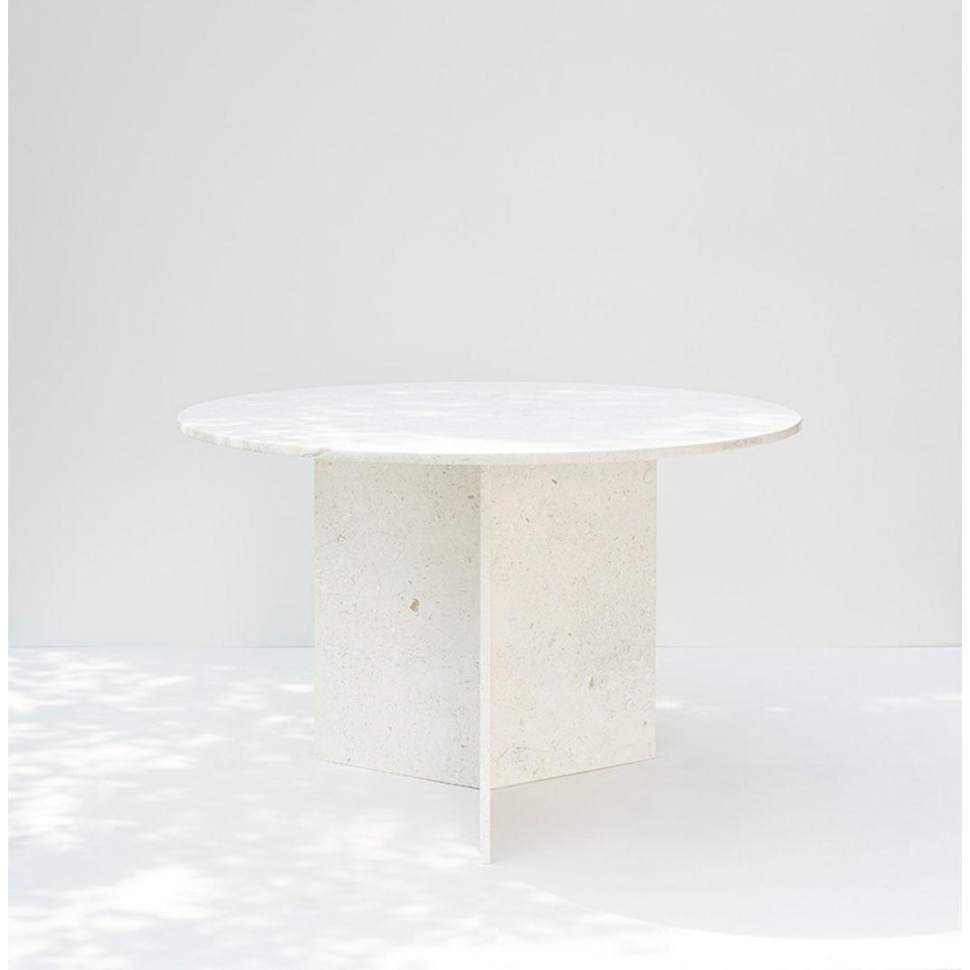 Trofi - Round Dinner Table (French vanilla) by Public Studio