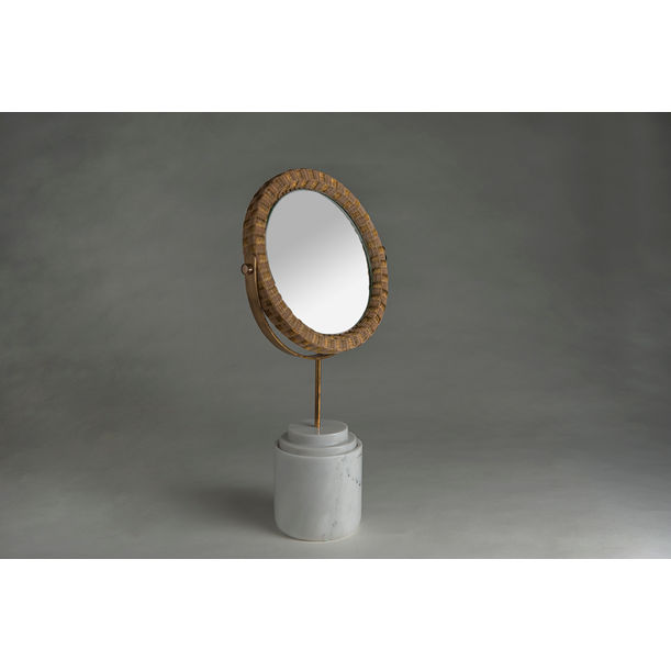 Round Mirror - White by PATAPiAN