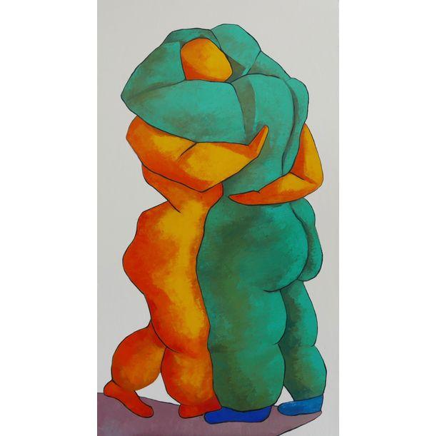 Lovers dancing by Ta Thimkaeo