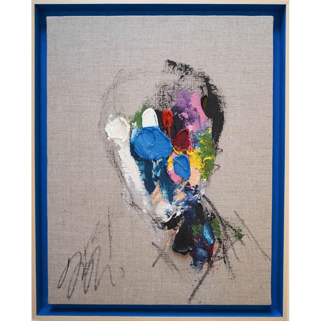English Blue Portrait work by Tomoya