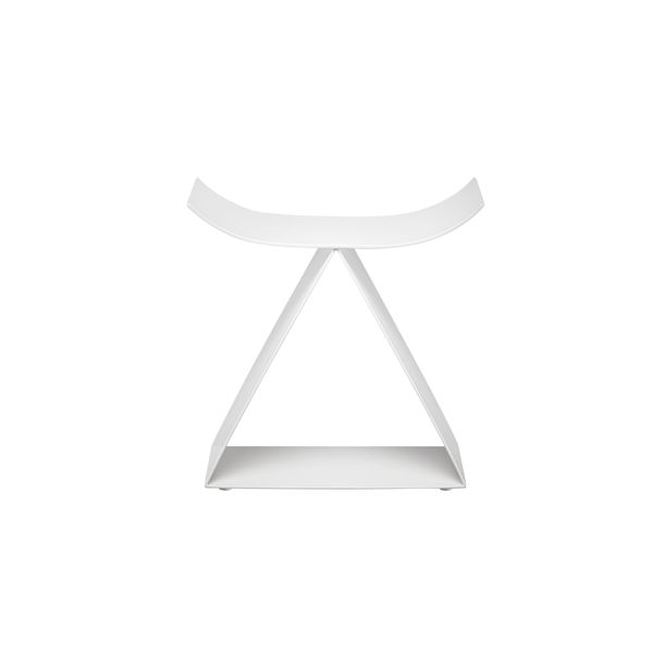 Picto Furniture-Concave Stool/Matte White by nendo for ZENS