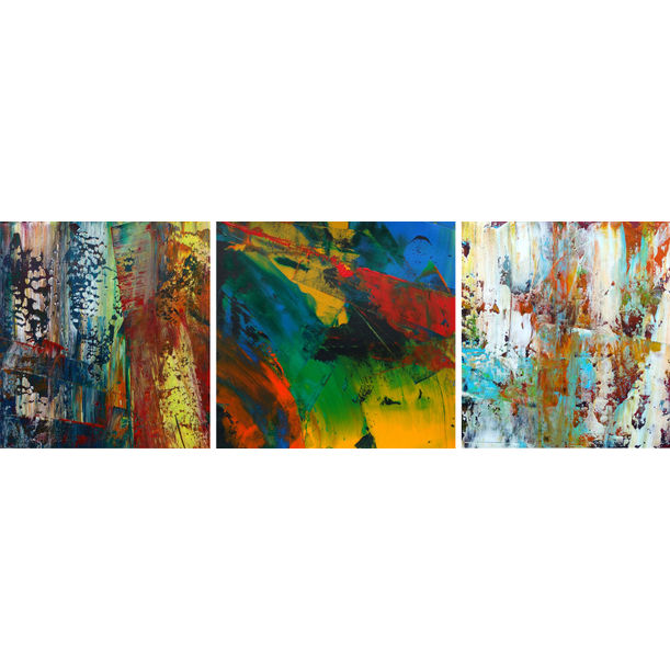 Untitled 33 (triptych) by Abhishek Kumar