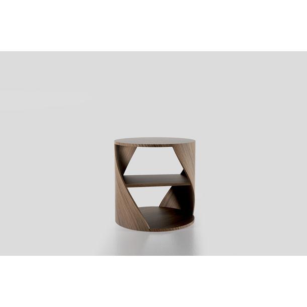 MYDNA Side Table: Teak Wood  Decorative Nightstand by Joel Escalona
