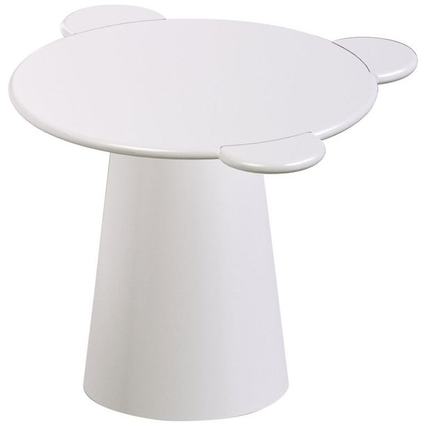 Contemporary Coffee Table White Donald Wood by Chapel Petrassi