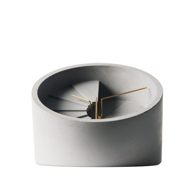 4th Dimension Table Clock (Gold/ Grey) by 22 Design Studio