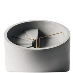 4th Dimension Table Clock (Gold/ Grey) by 22 Design Studio