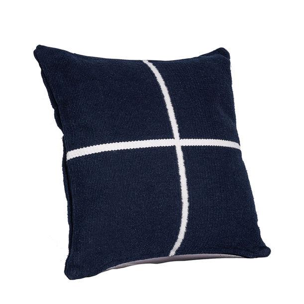 Jamakhan Cross Navy Blue cushion by Tiipoi