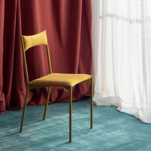 TENSA Dining Chair - Yellow by Ries Studio