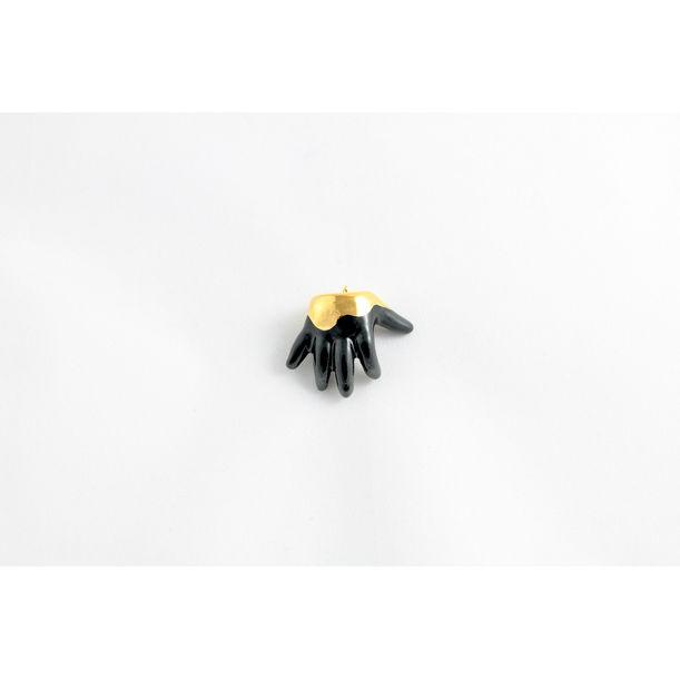 Black & Gold Baby Hand by Mari JJ Design