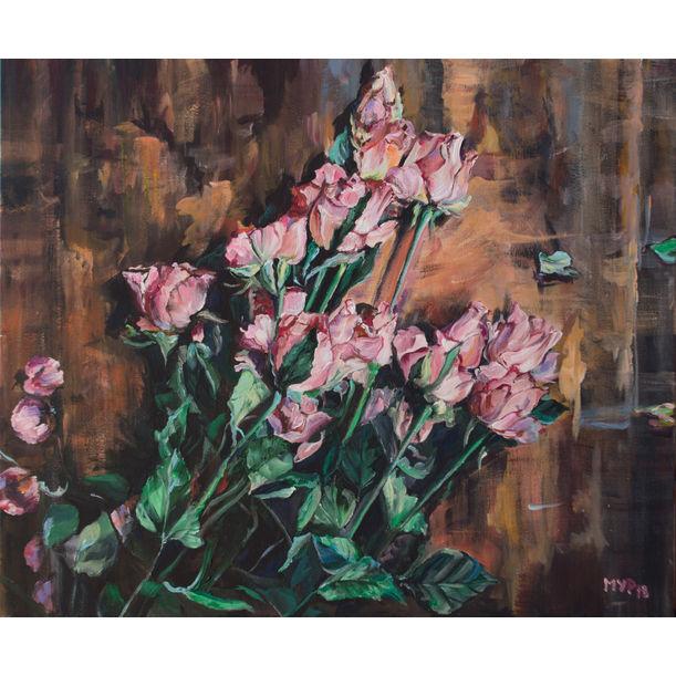 Roses on the Desk by Marina Urchukina