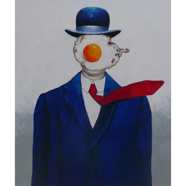 Egg man in bowler hat by Ta Thimkaeo