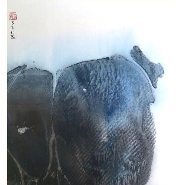 """The Mind Boulder""   《心頭石》 by Night Fung (馮禮慈)"