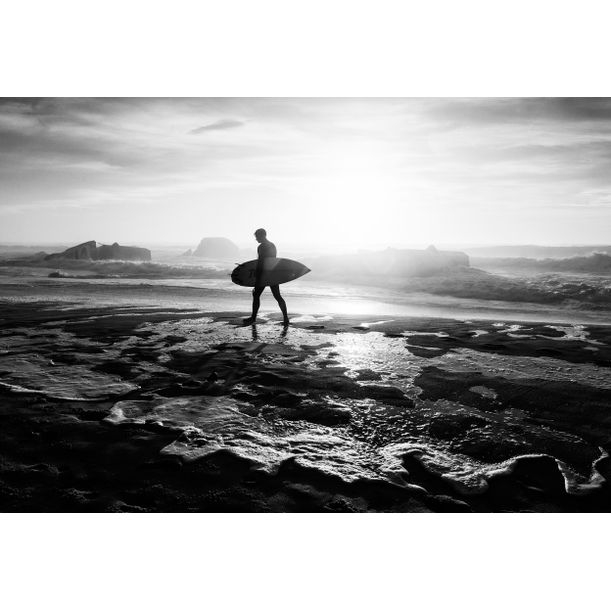 SURFER SILHOUETTE by Andrew Lever