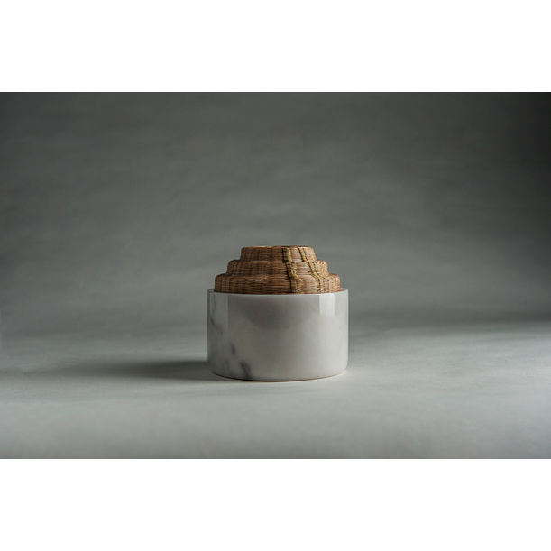 Round Short Container - White by PATAPiAN
