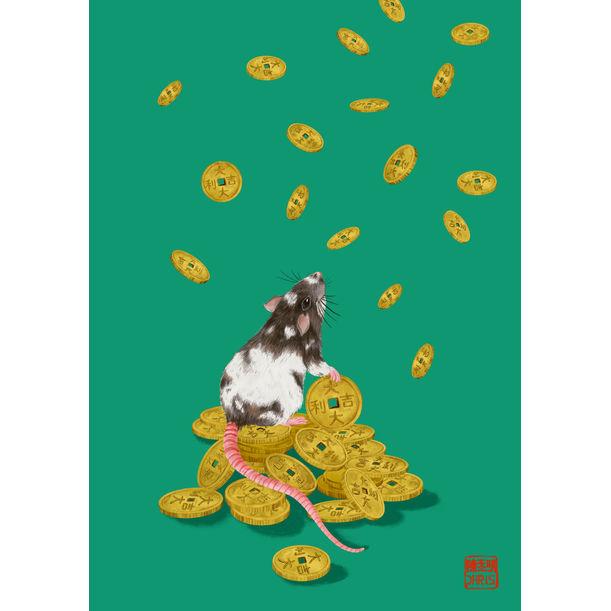 Lucky Coins Rat by Chris Chun
