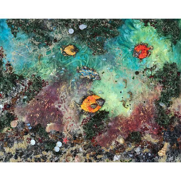 Sea Landscape. Collage by Diana Malivani