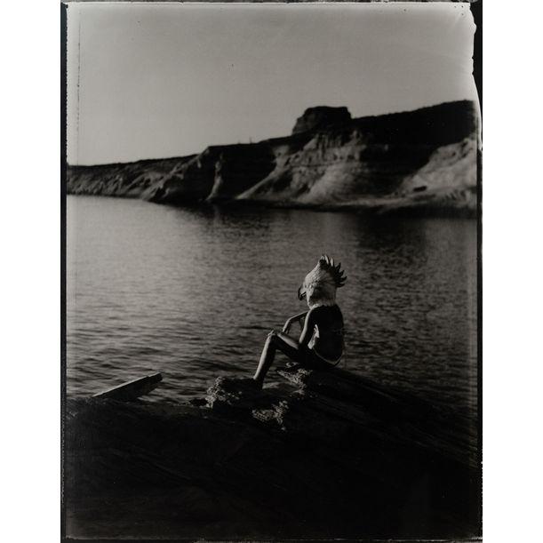 Contemplative Bird Girl, Summer, The Lake by Lara Porzak