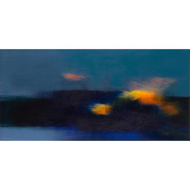 Nocturne and fire - Night scene by Fabienne Monestier