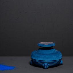 Blue Alchemy - Vase nr. 6 by Siba Sahabi